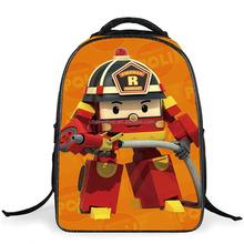 New 16'' Cartoon Robocar Poli Backpack for Baby Girls,Boys Mochila School Kids Backpack Child Mini Bags,Robocar Bagpack Infantil
