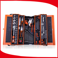 Hot selling 85pc hardware tools with screwdriver set,wrench,pliers,measuring tape,sleeve set,knife