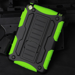 Newest mobile phone cover Armor Impact Holster Belt Case For ipad mini, For ipad mini ,mini 2,mini 3 air Cover case