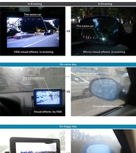 new product GPS security camera system camera car +latest world map HD Screen car side mirrors 240