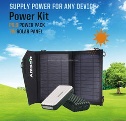 New year Best Offer ~~Power Bank with foldable Solar Panel,Power Bank for Cellphone ,Power Bank with Solar Panel