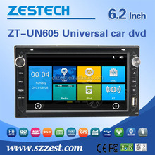 6.2INCH double din 7 inch car dvd player For Nissan Universal touch screen 2 din auto car audio radio player WITH DVR OBD DTV