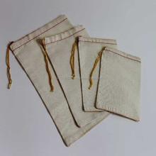 Cotton Muslin Bag 8 x 10 Yellow Drawstring