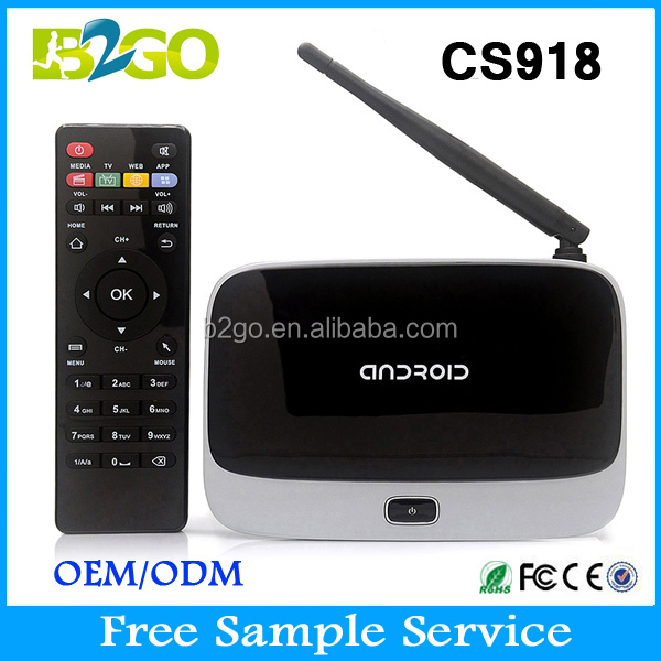 Kodi totalmente carga Android TV Box CS918 mk888 Smart TV Box HD Media Player 1 GB RAM 8 GB ROM RK3188 Quad Core TV Box