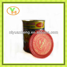 70G-4500G China Hot Sell food tinplate can tomato paste with easy open lid