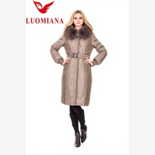 Latest fashion low price brown leather jacket women