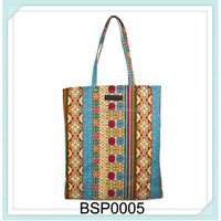 colorful jute fancy women foldable recylabel shopping bag