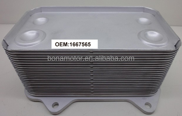 oil cooler core DAF 1667565 - BONAMOTOR.jpg