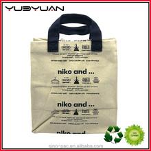 2015 Multicolor Custom Fashion Canvas Tote Shopping Zip Canvas Bags