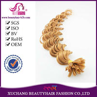 wholesale pre-bonded nail/U Tip hair extension, cheap remy human hair extentsion wigs