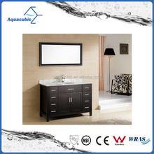 Chinese supplier wood modern bathroom vanity with mirror