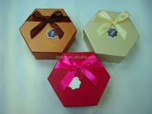 Hexagon Paper Rigid Box for the gift/food/chocolate packing