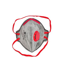 disposable full face mask active carbon fold flat with exhalation valve