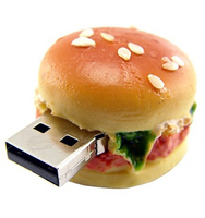 custom usb snack, food series hamburger shaped usb flash drives