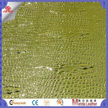 MRD3567 crocodile skin embossed durable PVC synthetic leather for furniture and decoration
