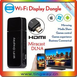 Hot Miracast Dlan WIFI DISPLAY All Share Cast smart media converter to TV big screen
