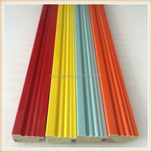 2015 New product colorful background wall panel decoration polystyrene/ps picture frame moulding/profile/stick