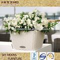 Pequeñas macetas de plantas, la decoración de navidad de mimbre poli de color de plástico macetas de plantas( p011)