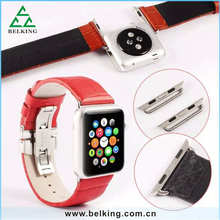 Metal Clip Adapter For iWatch Watchbands Real Leather Couples Wristbands Watch For Apple