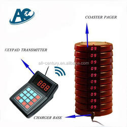 widely used guest table waiting, table buzzer for fast food restaurant