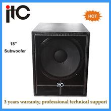 "Hottest China professional 18"" subwoofer speaker box"