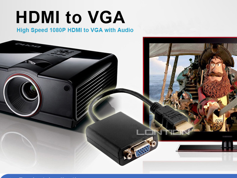 2014 Best Selling s-video vga rca to hdmi converter