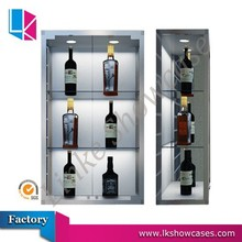 wine glass display cabinet wall mounted display case