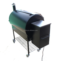 Traditional barrel shaped digital temprature control,consistent temperature wood pellet BBQ electric Non smoke burner grills.