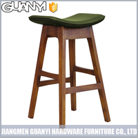 modern 2015 leather cover U shape design wooden dining chair