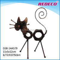 Small decorative cat metal art and craft figurines