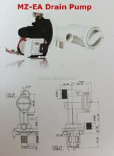 Máquina de lavar roupa bomba de drenagem motor/universal bomba de drenagem para máquina de lavar roupa