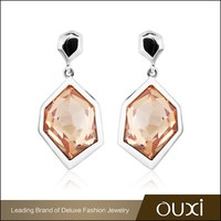 Fashion silver jewellery designs crystal jewellery gold plated jewellery 925 sterling silver drop earring Y20315