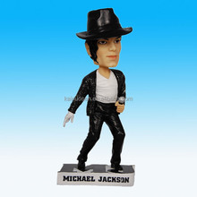 "MICHAEL JACKSON 7"" Polyresin BOBBLE HEAD FIGURINE home decoration"
