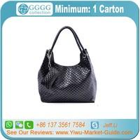 PU Crochet Shoulder Bags/PU Crochet Knitted Handbags