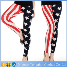 Customizable was surrounded by an American flag leisure long sexy tight pants