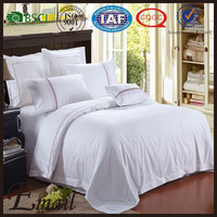 Simple Hotel&Home white design duvet cover set competitive price puff bedding set