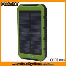 Travel essentials portable solar power bank 8000mah