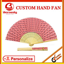 Assorted colors Customize paper hand fan