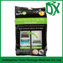 reusable family pack vacuum compression bag for bedding and clothes\plastic bag supplier