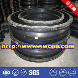 Three sphere rubber buffer joint