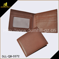 You smart real leather wallet with mesh window for men