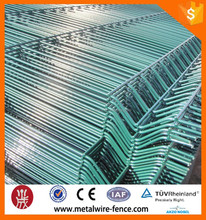 Galvanized pvc coated wire mesh welded top curved fence