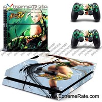 Sexy girl Vinyl Decal Sticker Skin for Playstation 4 PS4 Console+Controllers