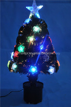 2FT Small Rose Decoration Fiber Optic Christmas Tree With Top Star