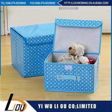 Pink non-woven fabrics folding storage box