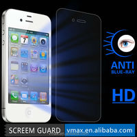2014 Newest HD Clear anti uv anti glare safeguard mobile phone lcd monitor anti blue light screen protector for iPhone 4s