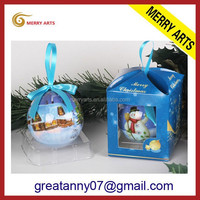 hot christmas ball in packaging with all kinds of planting