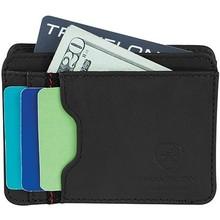 RFID blocking pu leather credit card holder Slim thin ID wallet