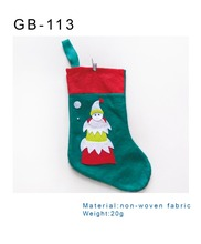 new arrive popular decor wholesale cheap snowman pattern christmas stocking