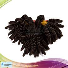 Most popular natural color 1b# can be dyed funmi curly hair extensions